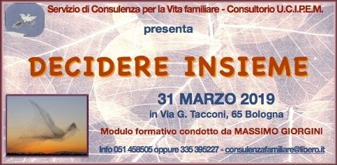 Modulo Formativo Decidere Insieme - Massimo Giorgini Consultorio UCIPEM Bologna